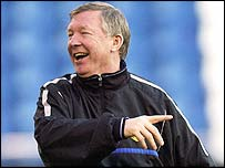 Sir Alex Ferguson in good spirits ahead of Man Utd's final Champions League group  game