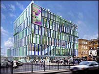 Architect's drawing of the planned building in Whitechapel, Idea Store image