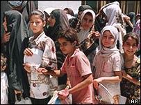 Queue in Iraq