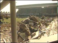 demolition at Filbert Street