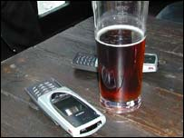 Beer and phones, BBC