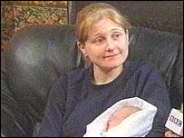 Donna Moore with baby Catherine