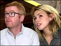 Chris Evans with wife Billie Piper