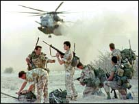 Welsh soldiers of the Queen's Dragoon Guards