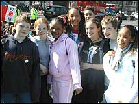 Pupils from Pimlico School