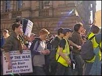Young people protest in Edinburgh