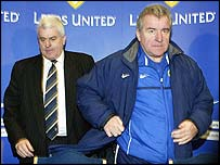 Leeds chairman Peter Ridsdale (left) and Terry Venables