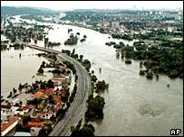 Flooding outside Prague