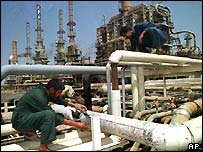 The al-Basra oil field outside the city