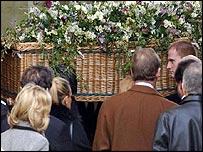 Faith's coffin