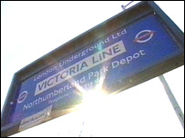 Northumberland Park depot sign