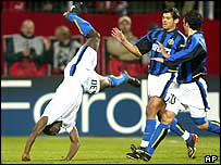 Inter Milan striker Obafemi Martins