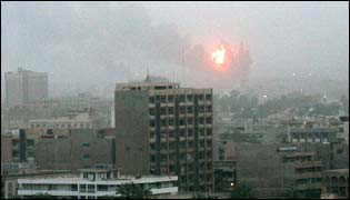 Iraq showing bomb blast