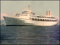 The cruise liner was known as the Great White Whale