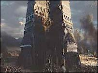 Some Two Towers sets were big models called
