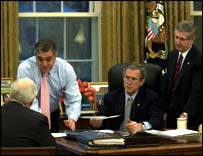 George Bush in Oval Office, 20 March 2002