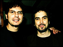 Carlos Cuaron (left) with brother and Harry Potter director Alfonso