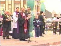 Memorial service at Warrington