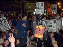 Demonstrators in Southampton