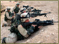 US Army 3 Battalion 15th Infantry aim towards Iraq