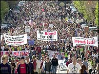 Huge protest in San Francisco, 20 March 2003