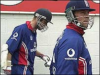 Nick Knight (left) and Marcus Trescothick