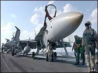 US F-18 Hornet aircraft