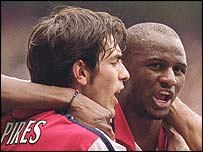Robert Pires and Patrick Vieira