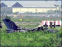 An earlier crashed Indian MiG