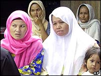 Muslim women in the south of Thailand