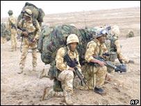 Troops on the al-Faw peninsula