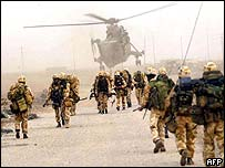 Royal Marines on al-Faw peninsula