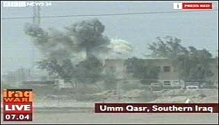 Fire fight in Umm Qasr