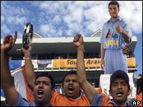 Indian fans in Johannesburg