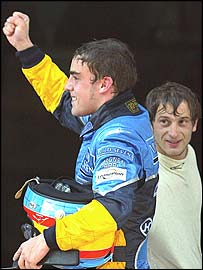Fernando Alonso finished third after starting first, while Jarno Trulli recovered to fifth after a first-lap crash with Michael Schumacher