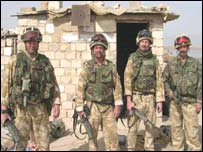 Reconaissance team from Royal Engineers