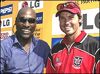Sir Viv Richards and John Davison