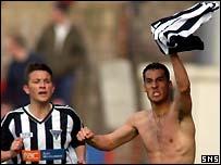David Grondin celebrates the opening goal
