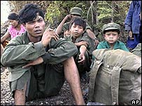 Defecting Khmer Rouge guerrillas and their children