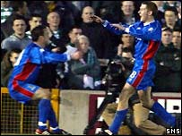 Caley Thistle celebrate