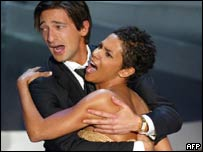 Adrien Brody and Halle Berry