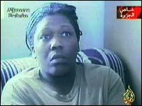 A captured American servicewoman shown on al-Jazeera TV