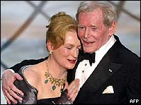 Peter O'Toole with Meryl Streep