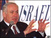 Israeli finance minister Benjamin Netanyahu