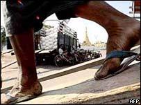 A Burmese labourer, May 2002