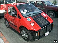 America's first street-ready fuel-cell-powered car in California 1998