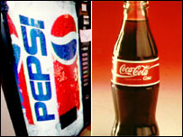 Coca Cola and Pepsi