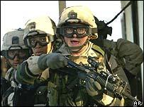 US troops training in Kuwait