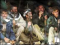 PUK fighters near Halabja, in Kurdish-controlled northern Iraq