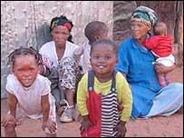 San (bushmen) family